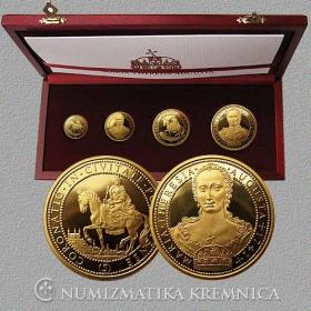 Sada medailí Mária Terézia (1,2,5,10-dukát)