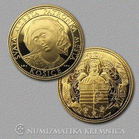 Medaila s kartou - Košice - Lesk