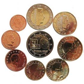 2 Euro Luxembursko 2017 - Obehové euromince + pamätná 2 euro Dobrovľná vojenská služba