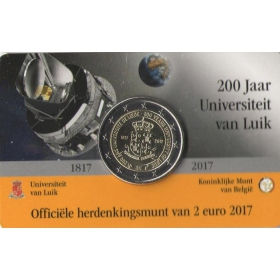 2 Euro Belgicko 2017 - Univerzita v Liège