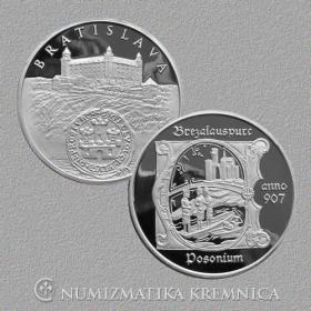 Strieborná medaila Bratislava - Proof