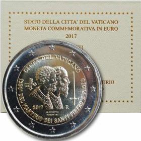 2 Euro Vatikán 2017 - Sv. Peter a Pavol