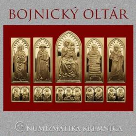 Bojnický oltár na strieborných plaketách - pozlátený