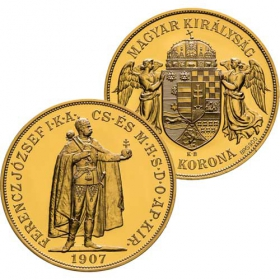 Zlatá 100 Koruna 1907 - František Jozef I. ( označenie KB/BP)