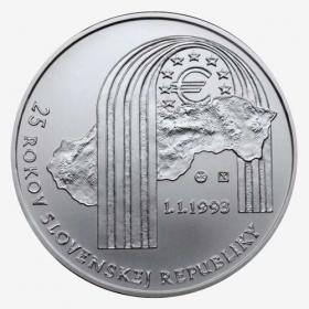 25 Euro / 2018 - 25 Years of Republic Slovakia - BU