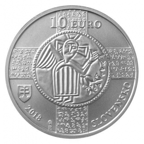 10 Euro / 2018 - Slovanský liturgický jazyk - Bežná kvalita