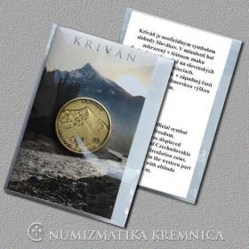 Medaila s magnetom - Kriváň / Vysoké Tatry - Patina