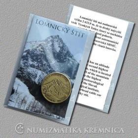 Medal with magnet - Lomnica Peak / High Tatras - Patinated