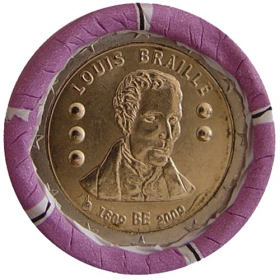 2 Euro / 2009 - Belgicko - Louis Braille