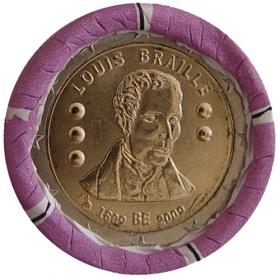 2 Euro Belgicko 2009 - Louis Braille