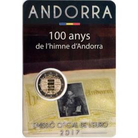 2 Euro Andorra 2017 - Hymna Andorry