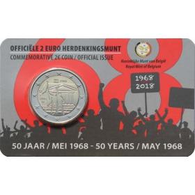 2 Euro Belgicko 2018 - Máj 1968 v Belgicku