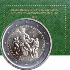2 Euro Vatikán 2018 - Európsky rok kultúrneho dedičstva