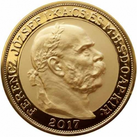 Gold 100 Korona Coronation of Franz Joseph I.