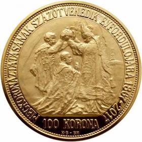 Zlatá 100 Koruna Korunovácia Františka Jozefa I.