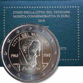 2 Euro Vatikán 2018 - Páter Pio