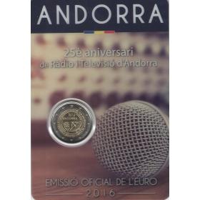 2 Euro / 2016 - Andorra - Rozhlas a televízia