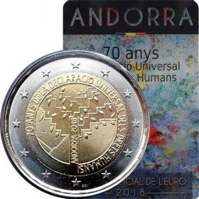 2 Euro / 2018 - Andorra - Všeobecná deklarácia ľudských práv