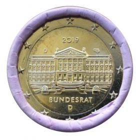 "2 Euro Nemecko ""D"" 2019 - Bundesrat"