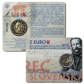 2 Euro Karta Slovensko 2015 - Ľudovít Štúr