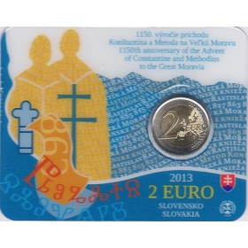 2 Euro Coincard / 2013 - Slovakia - 1150th anniversary of the Advent of Constantine and Methodius to the Great Moravia