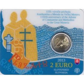 2 Euro Karta / 2013 - Slovensko -1150. výročie príchodu Konštantína a Metoda na Veľkú Moravu