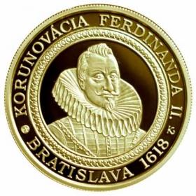100 Euro / 2018 - Korunovácia Ferdinanda II. - minca + pamätný list
