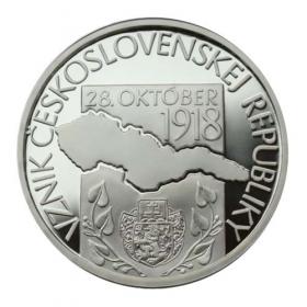 10 Euro / 2018 - Formation of Czechoslovak republic - Proof