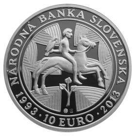 10 Euro / 2013 - 200th anniversary of the National Bank of Slovakia - Proof