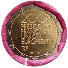 2 Euro Francúzsko 2008 - Predsedníctvo v Rade Európskej únie