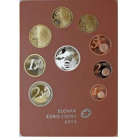Set Euro / 2019 - Slovak euro coins - 10th anniversary of the introduction of the Euro in Slovakia - Proof