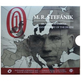 Set Euro / 2019 - Slovak euro coins - 100th anniversary of the M. R. Stefanik´s death - Standard quality