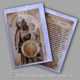 Medaila s kartou Madona z Kremnice - Patina