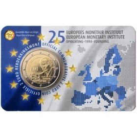 2 Euro / 2019 - Belgium - 25th Anniversary of the European Monetary Institute (EMI)