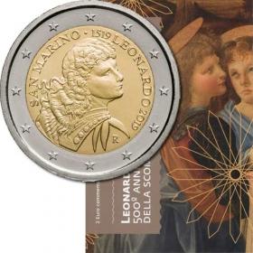 2 Euro / 2019 - San Marino - Leonardo Da Vinci