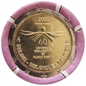 2 Euro / 2008 - Belgium - Universal Declaration of Human Rights
