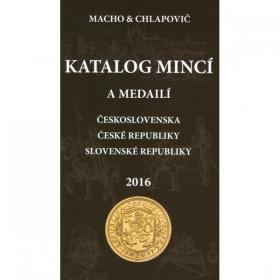 Katalóg mincí a medailí Československa, ČR a SR 2016