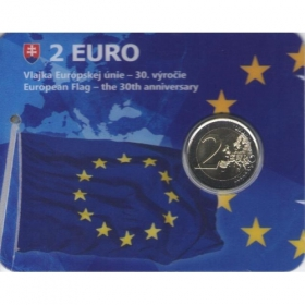 2 Euro Coincard / 2015 - Slovakia - European Flag - the 30th anniversary