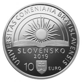 10 Euro / 2019 - Univerzita Komenského v Bratislave - 100. výročie vzniku- Proof