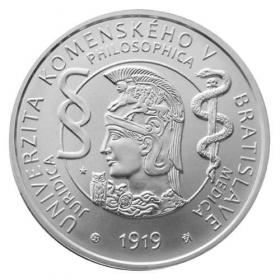 10 Euro / 2019 - Univerzita Komenského v Bratislave - 100. výročie vzniku