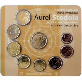 Sada Euro / 2019 - Slovenské euromince - Aurel Stodola - Bežná kvalita