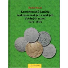 Komentovaný katalóg československých a českých obežných mincí 1919 - 2019