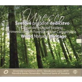 Sada Euro / 2019 - Slovenské euromince - UNESCO - Karpatské bukové pralesy