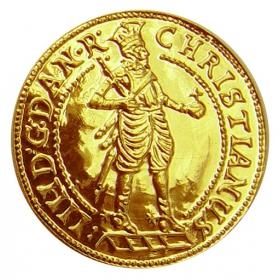 Zlatá replika mince Kristián IV. (1-dukát) - Košický zlatý poklad