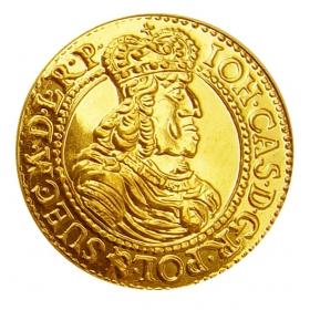 Zlatá replika mince Ján Kazimír (1-dukát) - Košický zlatý poklad