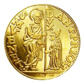 Zlatá replika mince Antonius Priuli (1-dukát) - Košický zlatý poklad