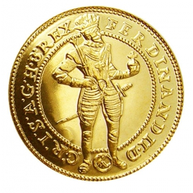 Zlatá replika mince Ferdinand II. (1-dukát) - Košický zlatý poklad