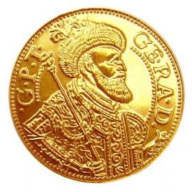 Zlatá replika mince Juraj Rákoci (1-dukát) - Košický zlatý poklad