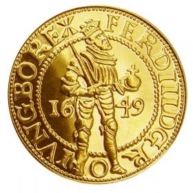 Zlatá replika mince Ferdinand III. (1-dukát) - Košický zlatý poklad