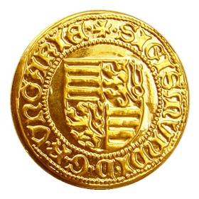 Košický zlatý poklad - Žigmund Luxemburský (1-dukát)